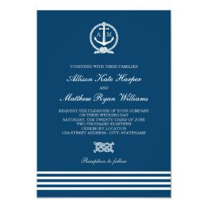 Wedding Invitations | Nautical Stripes Theme 5
