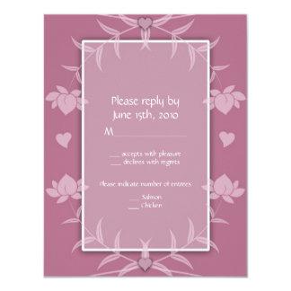 Wedding Invitations Pink Floral RSVP Notes