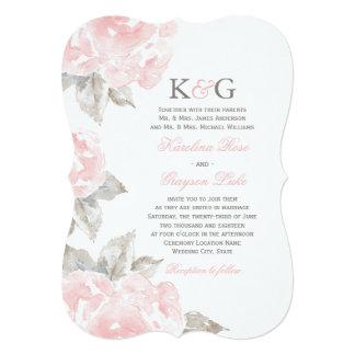Wedding Invitations | Pink Watercolor Roses