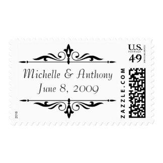 Wedding Invitations postage stamp template II