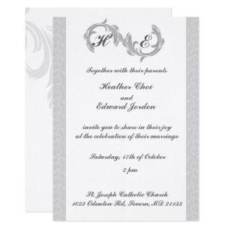 Wedding Invitations Silver