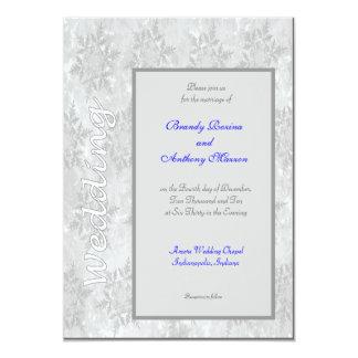 Wedding Invitations winter snowflakes Imprint