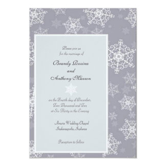 Wedding Invitations winter snowflakes wedding 3