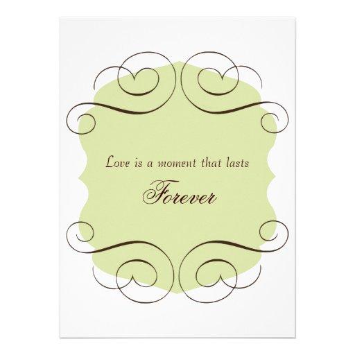 wedding invitations with love quote 5 5 x 7 5 invitation
