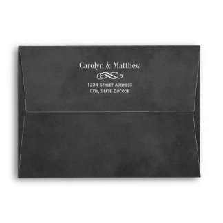 Wedding Invite Envelopes | Black Chalkboard Style Envelopes
