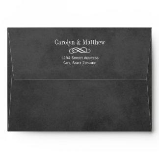 Wedding Invite Envelopes | Black Chalkboard Style
