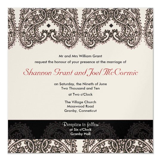Wedding Invite Gold and Black