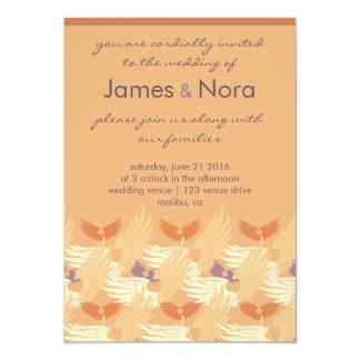 Wedding Invite - Heartwings (apricot/lavender)