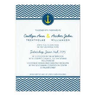 WEDDING INVITE nautical anchor custom monogram