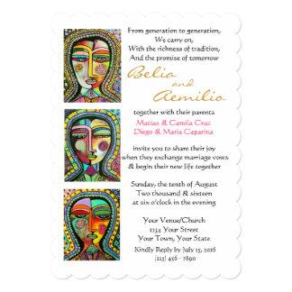 Wedding Invite Talavera Four Virgins of Guadalupe