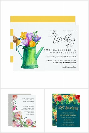 Wedding Invites-Tropical Watercolor