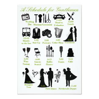 Wedding Itenerary Schedule for Groomsmen Card