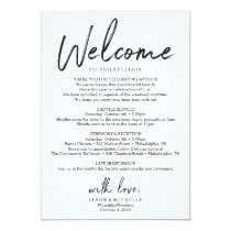 Wedding Itinerary Hotel Welcome Letter Invitation