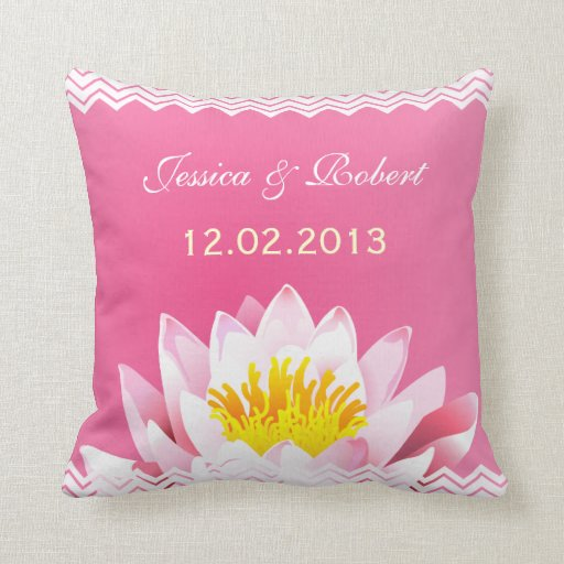 Wedding Keepsake Classy Chic  Floral Pillow