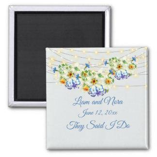 Wedding Keepsake Favor Spring Wedding Magnet