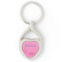 Wedding Keepsake Heart Keychain