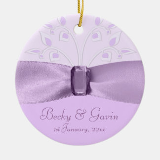 Wedding Keepsake Lavender Lane Ceramic Ornament