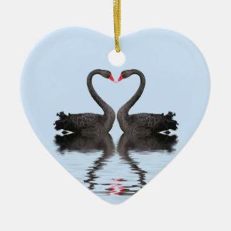 Wedding Keepsake Romancing Swans Wedding Set Ceramic Ornament