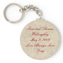 Wedding Keychain - Love Always Love Deep