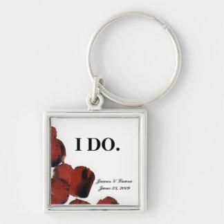 Wedding keychain with date