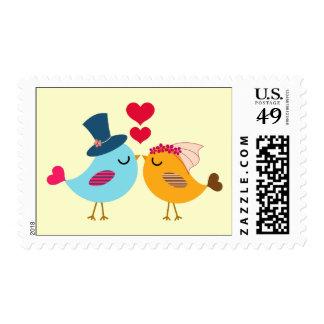 Wedding Kiss Birds Postage