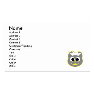 Wedding Kitty Yellow - Gray Double-Sided Standard Business Cards (Pack Of 100)