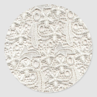 Wedding Lace Classic Round Sticker