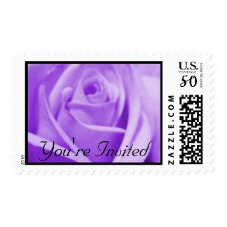 Wedding: Lavender and Black - postage