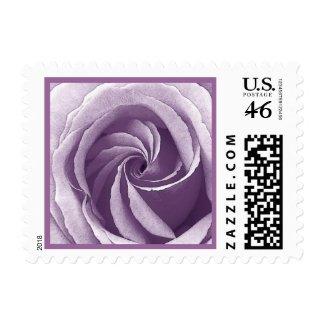 Wedding LAVENDER PURPLE Rose Postage Stamps