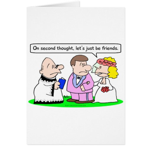 wedding let's just be friends greeting card