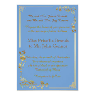 wedding light blue two-sided classic great-Gatsby Card