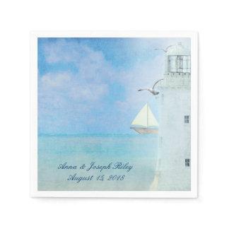 Wedding Lighthouse Paper Napkin