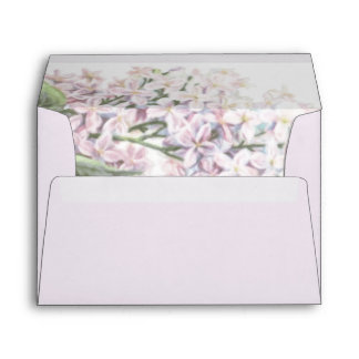 Wedding Lilac Blooms 5x7 Invitation Envelope