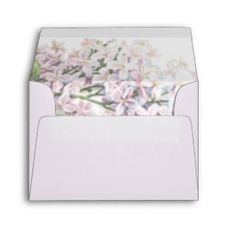 Wedding Lilac Blooms RSVP Envelope