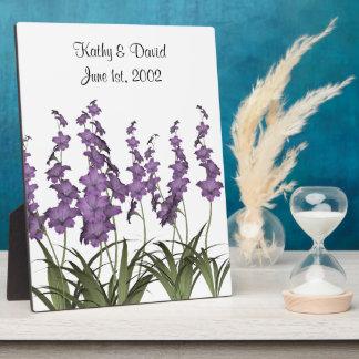 Wedding Lilac Flowers Plaque