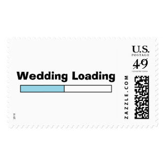 """Wedding Loading"" Postage Stamps"