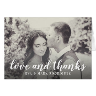 Wedding Love and Thanks | Photo Thank You Card