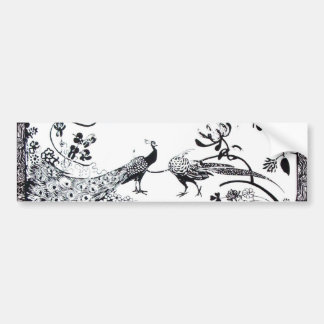 WEDDING LOVE BIRDS  black and white Bumper Stickers
