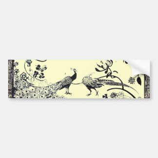 WEDDING LOVE BIRDS  black and white Bumper Sticker