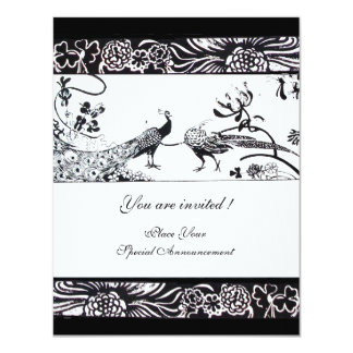 WEDDING LOVE BIRDS ,black and white Card