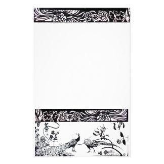 WEDDING LOVE BIRDS  black and white Stationery