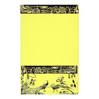 WEDDING LOVE BIRDS  black and yellow Stationery