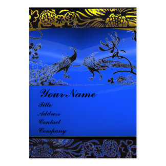 WEDDING LOVE BIRDS ,black white,blue sapphire Large Business Card