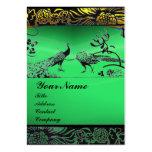 WEDDING LOVE BIRDS ,black white,green jade Business Cards