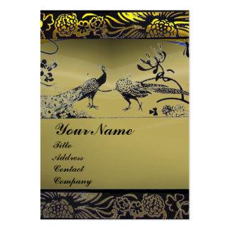 WEDDING LOVE BIRDS ,black white,grey agate Large Business Card