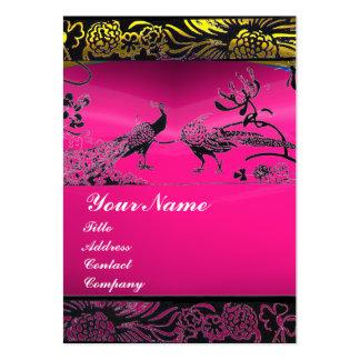 WEDDING LOVE BIRDS ,black white,pink amethyst Large Business Card