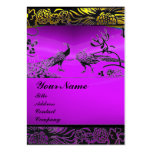 WEDDING LOVE BIRDS ,black white,purple amethyst Business Cards