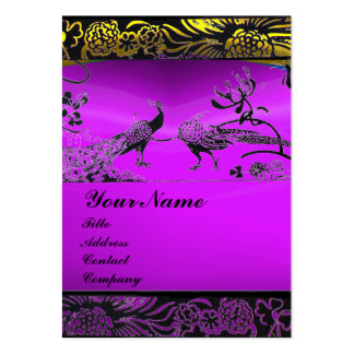 WEDDING LOVE BIRDS ,black white,purple amethyst Large Business Card