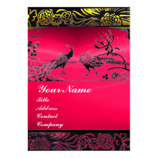 WEDDING LOVE BIRDS black white,red pink ruby Large Business Card