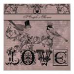 Wedding Love Birds Couple's Shower Invitation
